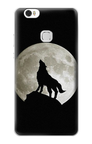 Printed Wolf Howling at The Moon Huawei Ascend G630 Case