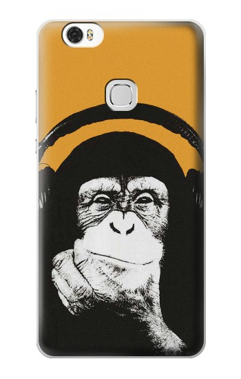 Printed Funny Monkey with Headphone Pop Music Huawei Ascend G630 Case