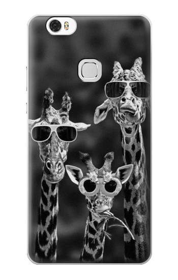 Printed Giraffes With Sunglasses Huawei Ascend G630 Case