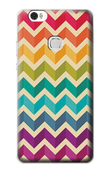 Printed Rainbow Colorful Shavron Zig Zag Pattern Huawei Ascend G630 Case