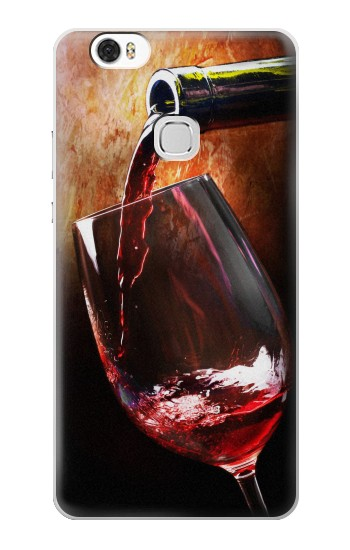 Printed Red Wine Bottle And Glass Huawei Ascend G630 Case