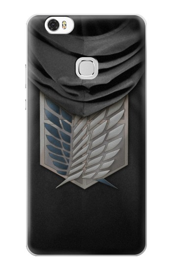 Printed Attack on Titan Scouting Legion Rivaille Black Cloak Huawei Ascend G630 Case