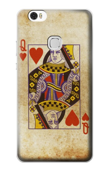 Printed Poker Card Queen Hearts Huawei Ascend G630 Case