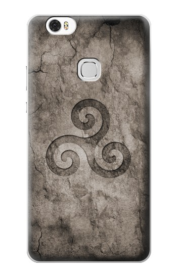 Printed Triskele Symbol Stone Texture Huawei Ascend G630 Case