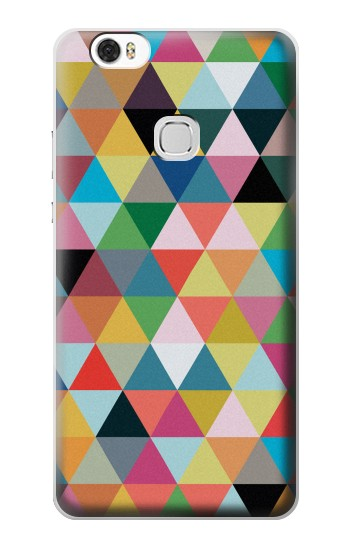 Printed Triangles Vibrant Colors Huawei Ascend G630 Case