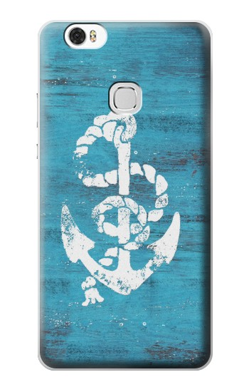 Printed Marine Anchor Blue Wooden Huawei Ascend G630 Case