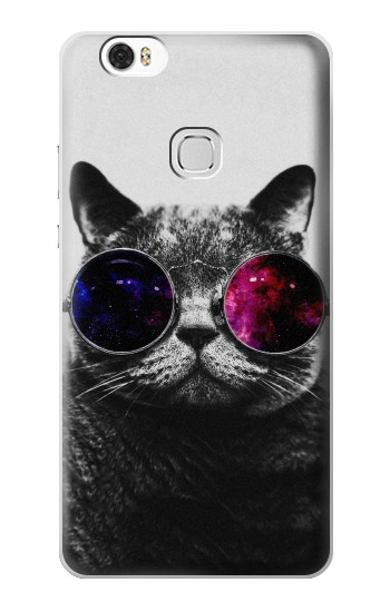 Printed Cool Cat Glasses Huawei Ascend G630 Case