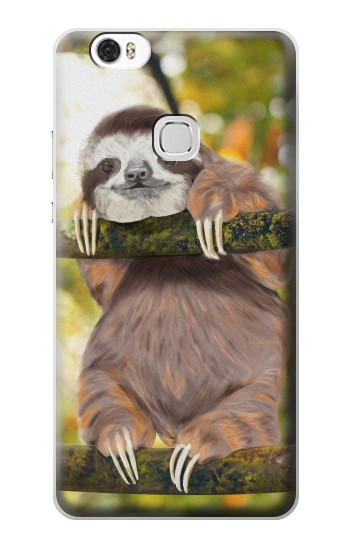 Printed Cute Baby Sloth Paint Huawei Ascend G630 Case