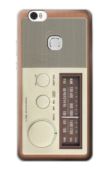 Printed FM AM Wooden Receiver Graphic Huawei Ascend G630 Case