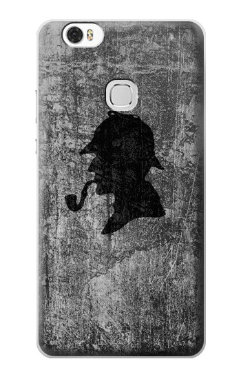 Printed Sherlock Holmes Silhouette Huawei Ascend G630 Case