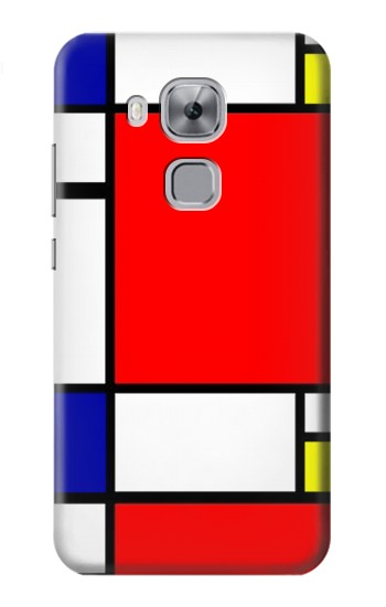 Printed Composition Red Blue Yellow Huawei Maimang 5, nova plus Case