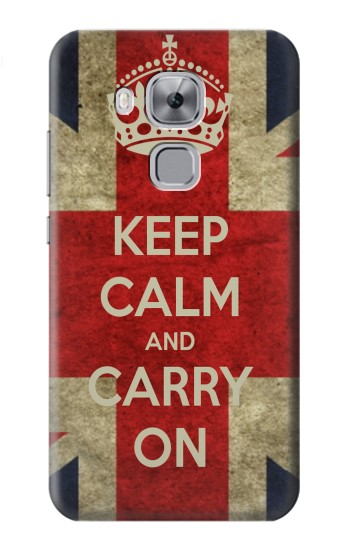 Printed Keep Calm and Carry On Huawei Maimang 5, nova plus Case