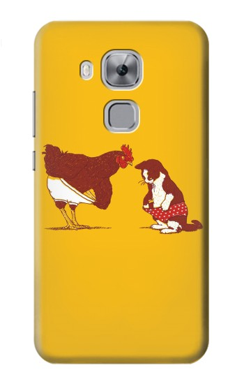 Printed Rooster and Cat Joke Huawei Maimang 5, nova plus Case