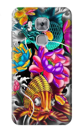 Printed Fish Japanese Oriental Tattoo Huawei Maimang 5, nova plus Case