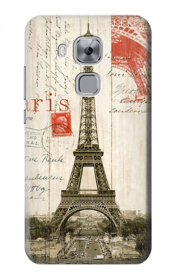 Printed Eiffel Tower Paris Postcard Huawei Maimang 5, nova plus Case