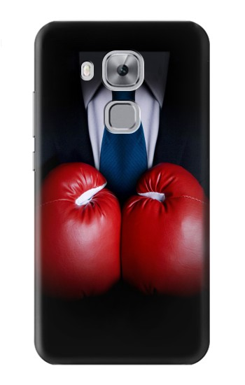Printed Businessman In Black Suit With Boxing Gloves Huawei Maimang 5, nova plus Case