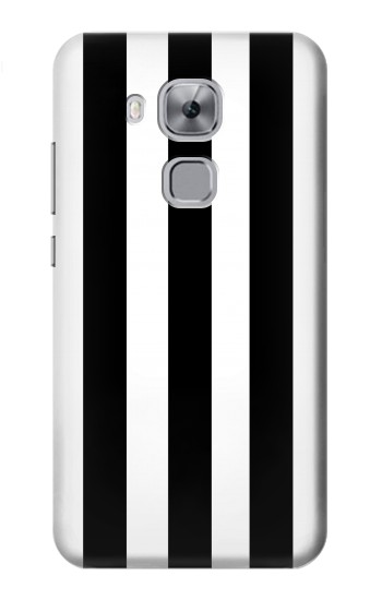 Printed Black and White Vertical Stripes Huawei Maimang 5, nova plus Case