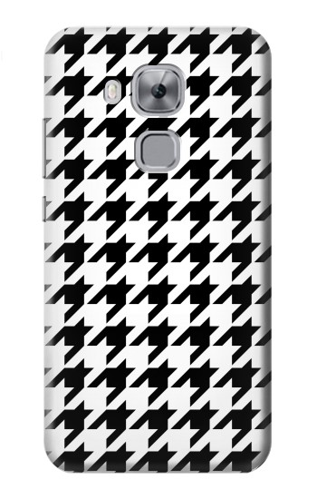 Printed Black White Houndstooth Monogram Pattern Huawei Maimang 5, nova plus Case