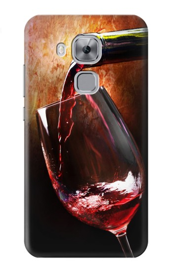Printed Red Wine Bottle And Glass Huawei Maimang 5, nova plus Case