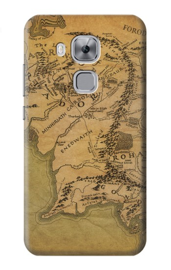 Printed The Lord Of The Rings Middle Earth Map Huawei Maimang 5, nova plus Case