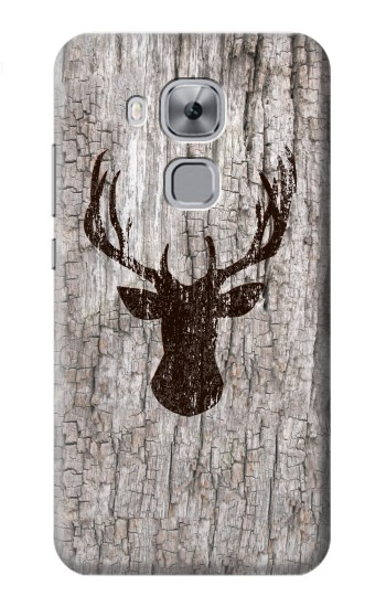 Printed Deer Head Old Wood Texture Huawei Maimang 5, nova plus Case