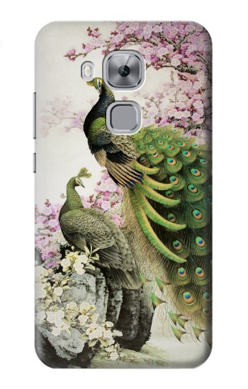 Printed Peacock Chinese Brush Painting Huawei Maimang 5, nova plus Case