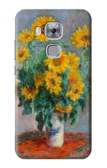 Printed Claude Monet Bouquet of Sunflowers Huawei Maimang 5, nova plus Case