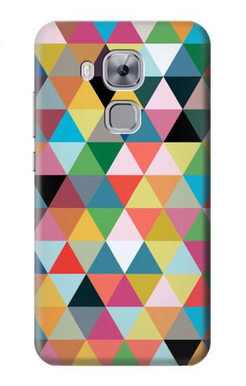 Printed Triangles Vibrant Colors Huawei Maimang 5, nova plus Case