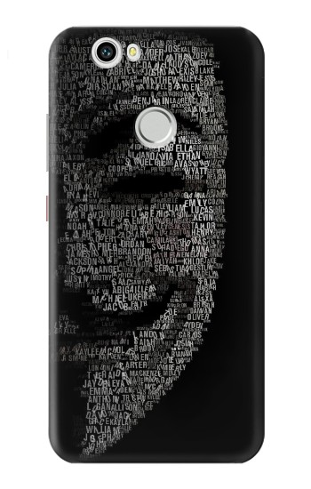 Printed V Mask Guy Fawkes Anonymous Huawei nova Case