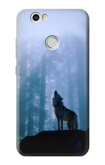 Printed Wolf Howling in Forest Huawei nova Case