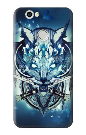 Printed Wolf with knives Rock Huawei nova Case
