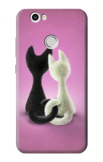 Printed Love Cat Huawei nova Case