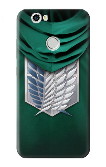 Printed Attack on Titan Scouting Legion Rivaille Green Cloak Huawei nova Case