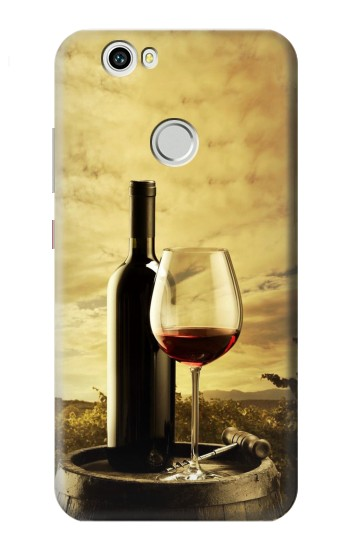 Printed A Grape Vineyard Grapes Bottle and Glass of Red Wine Huawei nova Case