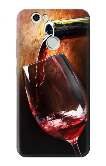 Printed Red Wine Bottle And Glass Huawei nova Case