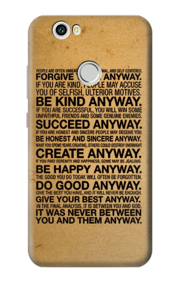 Printed Mother Teresa Anyway Quotes Huawei nova Case