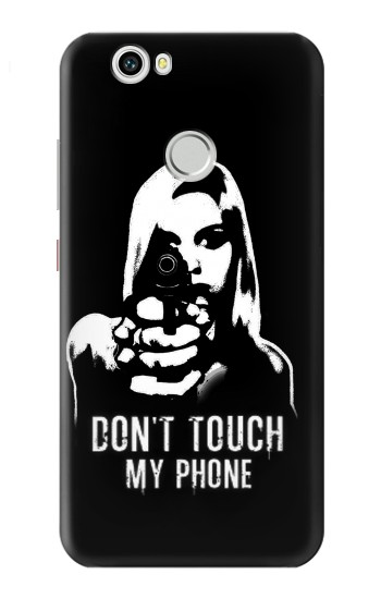Printed Girl Do Not Touch My Phone Huawei nova Case