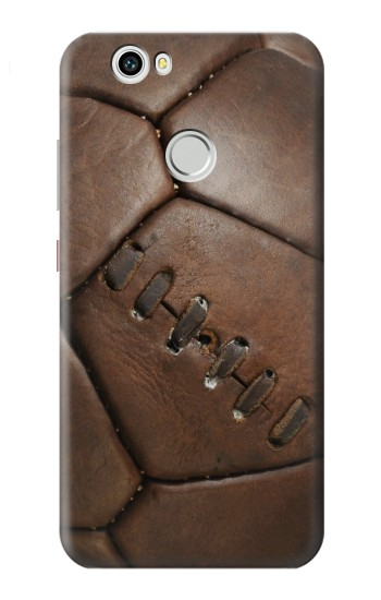 Printed Vintage Genuine Leather Soccer Football Huawei nova Case