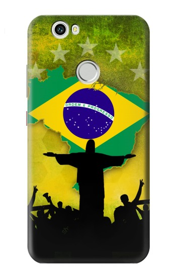 Printed Brazil Football Flag Huawei nova Case