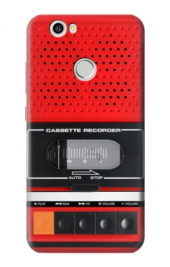 Printed Red Cassette Recorder Graphic Huawei nova Case
