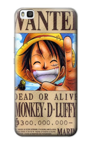 Printed One Piece Monkey D Luffy Wanted Poster Huawei P8 Case