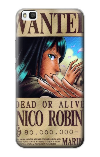Printed One Piece Nico Robin Wanted Poster Huawei P8 Case