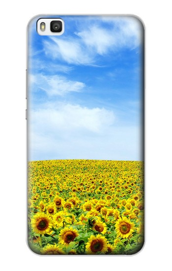 Printed Sunflower Huawei P8 Case