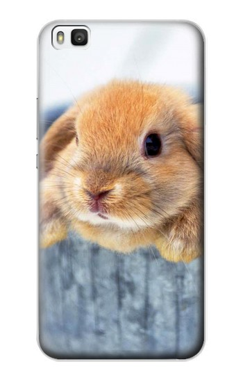Printed Cute Rabbit Huawei P8 Case