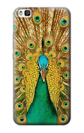 Printed Peacock Huawei P8 Case