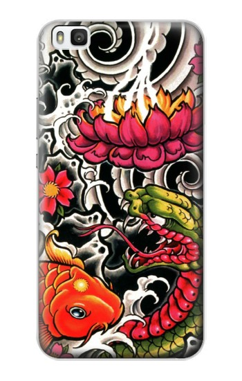 Printed Yakuza Tattoo Huawei P8 Case