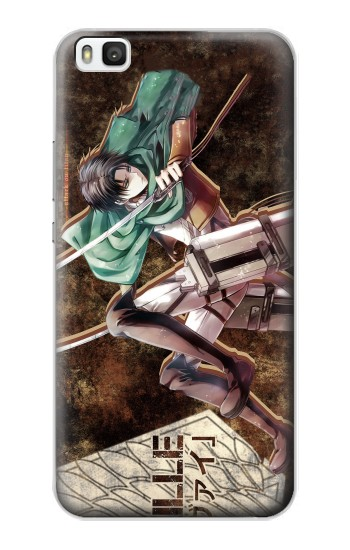 Printed Attack on Titan Rivaille Huawei P8 Case