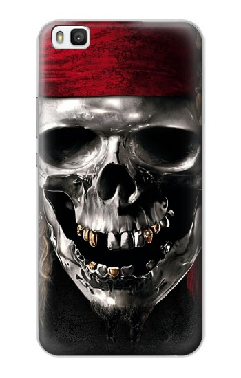 Printed Pirate Skull Huawei P8 Case