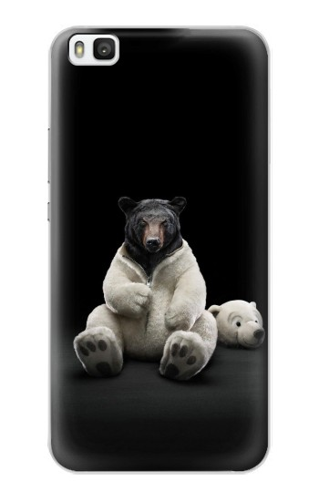 Printed Black Bear Huawei P8 Case