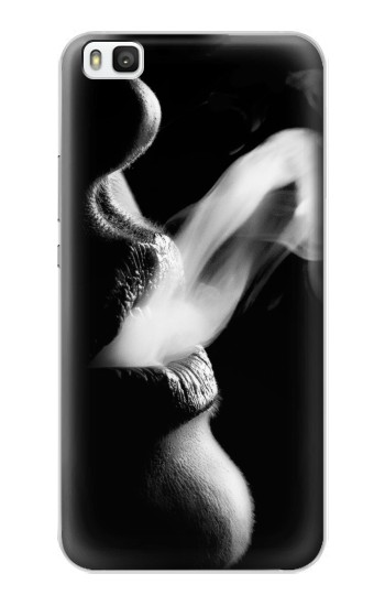 Printed Sexy Lip Girl Smoking Huawei P8 Case